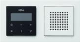 Gira 049572 Unterputz Radio RDS mit E2 Rahmen Gira E2, weiß / schwarz - 1